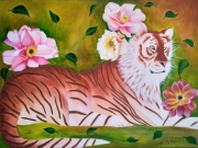 tableau animaux tigre dore : TIGRE DORE