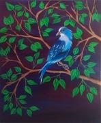 tableau animaux oiseau bleu : Oiseau bleu 1