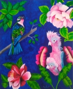 tableau animaux oiseaux fleurs nature : Natureza