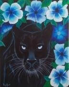 tableau animaux panthere : Panthère noire