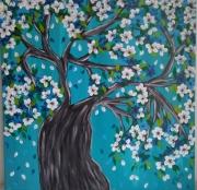 tableau fleurs : Arbre en fleurs