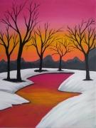 tableau paysages : hiver solitaire