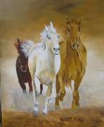 tableau animaux chevaux : le galop