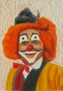 tableau personnages portrait clown : portrait
