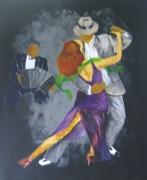 tableau personnages danse danseur tango : tango n°1