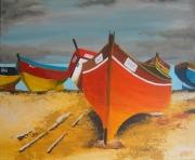 tableau marine bateaux barques plage mer : marine