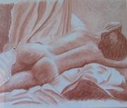 tableau nus nue : nue allongé