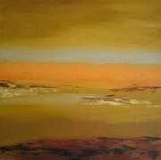 tableau paysages paysage desert : vent de sable