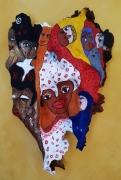 sculpture personnages masque : Masque Protecteur