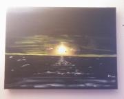 tableau marine ocean soleil mouette lumiere : AUDAES