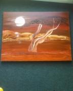 tableau paysages arbre dune desert : CHELLY 54 X 73
