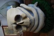 sculpture nature morte crane sculpture pierre statue : étreinte