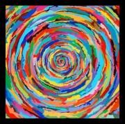 """tableau abstrait couleurs : """"Spirale new"""""""
