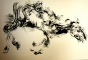 dessin cheval encre animal classique : Vieux cheval