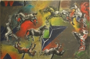tableau autres cheval fantaisie manege folie : Mary-Go-Round