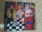 painting personnages les dame : Les dame