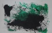 tableau abstrait moderne tendance abstrait unique : BE-GREEN A4