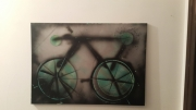tableau abstrait bike velo cycle abstrait : Street bike