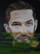 tableau personnages tom hardy nenuphars nettete floue : Tom Hardy+Nénuphars