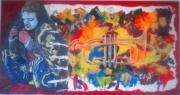 tableau pause clowne toile panneaux : la pause