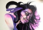 tableau personnages portrait femme personnage surrealiste : Portrait surréaliste