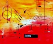 tableau abstrait abstraits comptemporains urbanisme : ABST 304