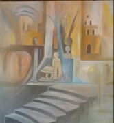 tableau abstrait royaume roi prince par ,a georges : le trône