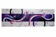 tableau abstrait rose violet moderne deco : ROSE NUANCES