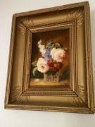 tableau fleurs roses fleurs vase bouquet nature morte : Les Roses