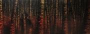 tableau paysages foret sombre arbres : si le loup y était...
