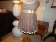 art textile mode fleurs petite fille princesse rose : ROBE AU CROCHET
