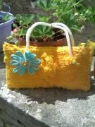 art textile mode fleurs couleur soleil beaute prestige : SAC A MAIN/POCHETTE DAME