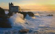 photo marine biarritz voila belza mer tempete : Villa Belza