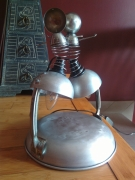 deco design personnages luminaire metal personnage : duo