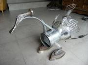 deco design animaux cygne lampe recup art deco : Martin