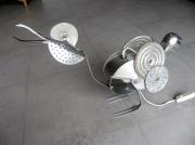 deco design animaux lampe coq deco metal : coq