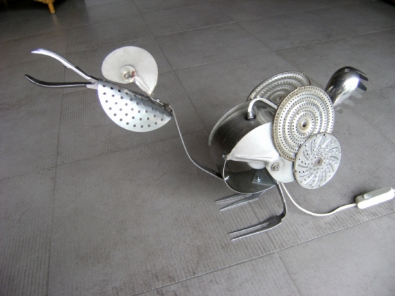 DECO, DESIGN LAMPE coq deco metal Animaux  - coq
