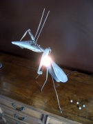 deco design animaux lampe deco mante religieuse metal : mante religieuse