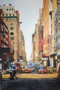 tableau villes new york th avenue america paysage urbain : NY#3 New York (Canyon 3)
