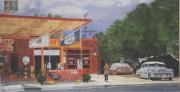tableau paysages route 66 seligman amerique hyperrealisme : Route 66, Seligman, Arizona