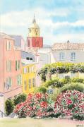 tableau architecture saint tropez eglise cote dazur village : 2020-25 Saint Tropez