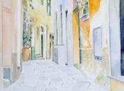 tableau architecture italie ligurie cinque terre village : 2014-01 Ruelle des Cinque Terre