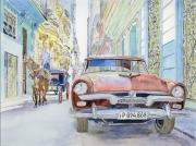 tableau villes la havanne cuba voiture americaine : 2017-09 La Havane