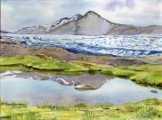 tableau paysages islande volcan glacier reflet : 2020-04 Islande