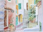 tableau architecture italie ligurie telaro village : 2009-06 Ruelle de Telaro