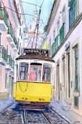 tableau villes tramway lisbonne portugal alfama : 2021-04 Tramway de Lisbonne