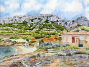 tableau paysages marseille calanque marseilleveyre mediterranee : 2021-15 Calanque de Marseilleveyre