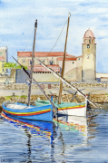 tableau marine port collioure cote vermeille catalogne : 2021-13 Port de Collioure