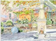 tableau architecture corse fontaine nonza cap corse : 2015-12 Fontaine de Nonza en Corse