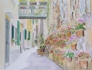 tableau italie ligurie portovenere village : 2010-24 Ruelle de Portovenere
